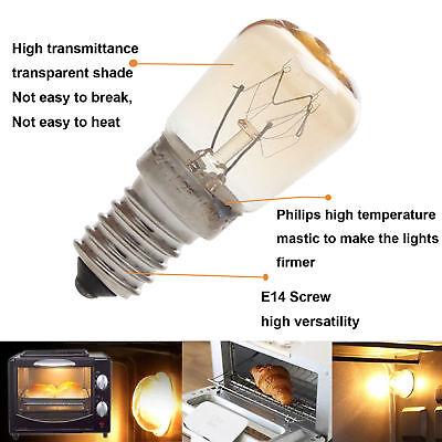 Horno Luz Congelador Nevera Bombilla E14 E12 3w 4w 15w 25w Alta Temperatura 3