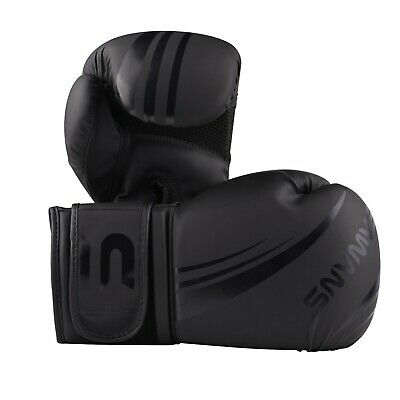 SAWANS® Leather Boxing Gloves Professional MMA Sparring Punch Bag Training Fight 8
