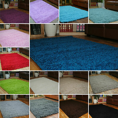 Shaggy Modern Small Extra Large Thick Soft Rugs Cheap Plain Non shed Mats 2