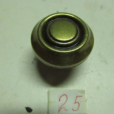 PULL KNOBS ROUND BRASS (lot of 7) ANTIQUE used 4