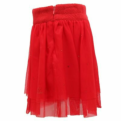 7116R gonna rossa tulle strass  bimba MISS BLUMARINE gonne skirts kids