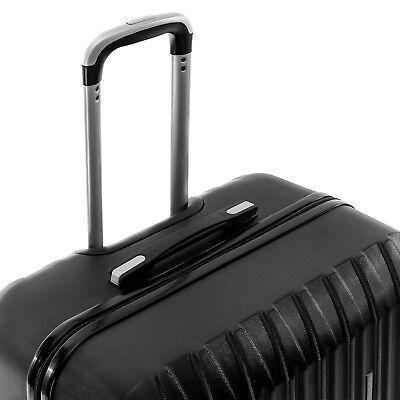"""4 Piece ABS Luggage Set Light Travel Case Hardshell Suitcase 16""""20""""24""""28"""" 3"""