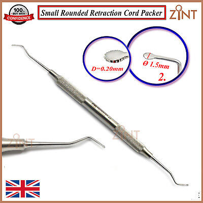 Set Of 3 Retraction Cord Packers Dental Sulcus Pack Placing Gingival Retraction 3