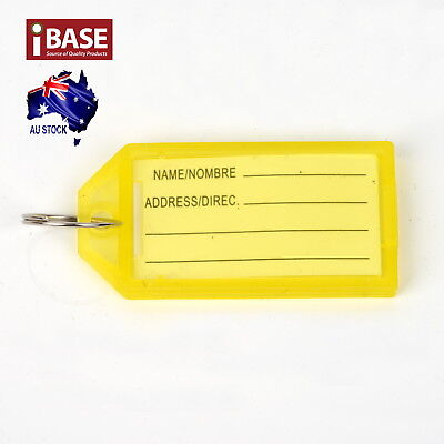 10x Key Ring Indicate Luggage Tag ID Label Travel Suitcase Identity Name Card 7