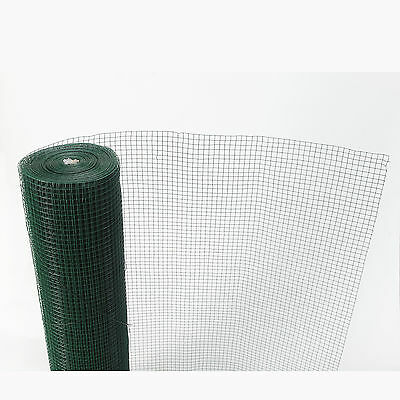 Green PVC Coated Chicken Wire Mesh 30M Fencing Garden Barrier Metal Fence 3