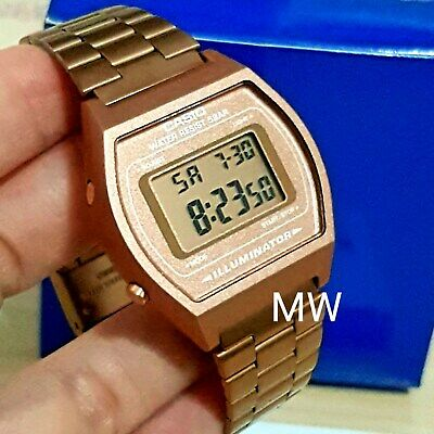 New Casio Vintage Rose Gold Digital Stainless Steel Watch B640WC-5ADF B640WC-5A 2