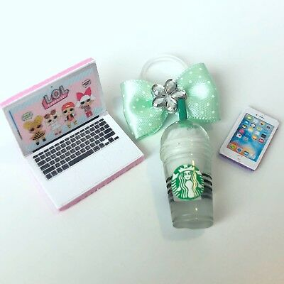 4 PC LOL Accessories Surprise Doll Starbucks Clothes Lot *Doll Not Included* 4