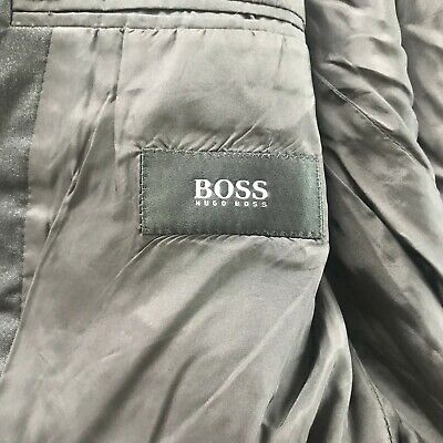 Hugo Boss Sz 42 R Gray Wool Two Button Men's Sports Coat Blazer 5