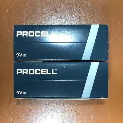 10 Duracell 9V PP3 Industrial PROCELL Batteries Smoke Alarm LR22 6LR61 MN1604 5
