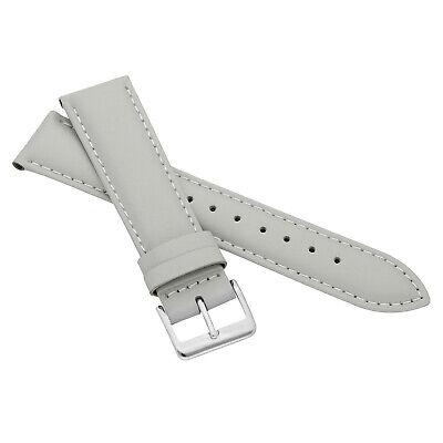 MARCHEL Lederarmband LLB Premium Glatt Silber Gold Schließe Uhrenarmband Uhr 5