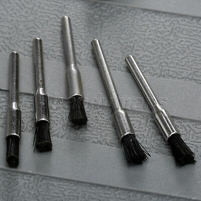 5Pcs Nylon Bristle Burr Pen Brushes Polishing Buffing Shank Grinder Power Tool 3