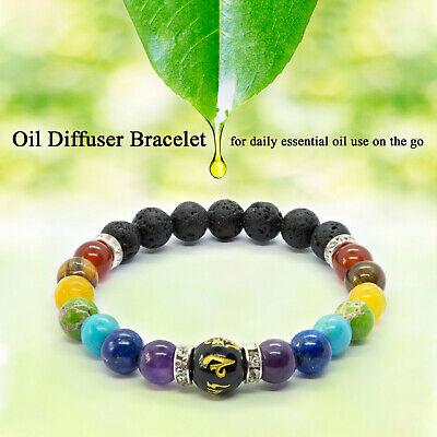 7 Chakra Crystal Stones Bracelet. Healing Beads Jewellery. Mala Reiki anxiety 2