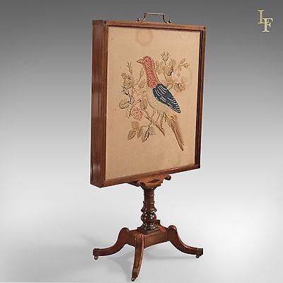 Antique Tapestry Display Stand, Regency Mahogany Needlepoint English circa 1830 2