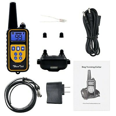 Dog Shock Training Collar Rechargeable Remote Control Waterproof IP67 875 Yards 8