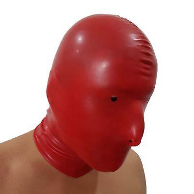 Latex-Maske aus Gummi in rot, Einheitsgröße 5