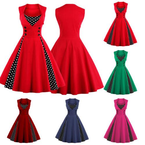 damen 50er jahre hepburn stil tanzkleid vintage petticoat partykleid ballkleider eur 10 99. Black Bedroom Furniture Sets. Home Design Ideas