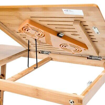 Table de lit pliable pour PC portable notebook tablet bambou + USB ventilateur 8