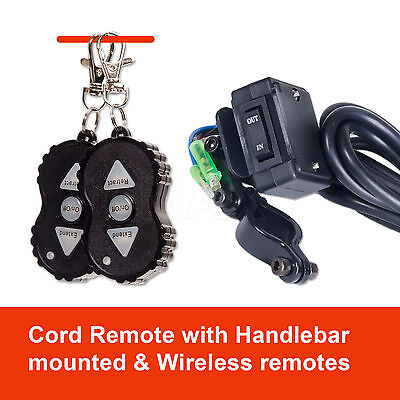 Wireless 3000LBS / 1360KG 12V Electric Steel Cable Winch Boat ATV 4WD Trailer 9