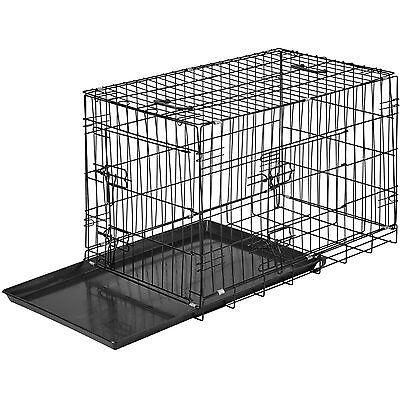 Hundebox Transportbox Hundekäfig Gitterbox Hund Welpe klappbar 76 x 47 x 51 cm