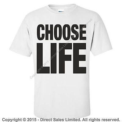 CHOOSE LIFE T Shirt Wham Replica George Michael 80s Retro Fancy Dress S-3XL Lot 7