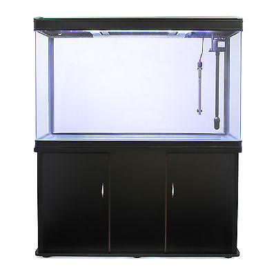Fish Tank Cabinet Aquarium LED Light Tropical Marine Large Black 4ft 300 Litre 3