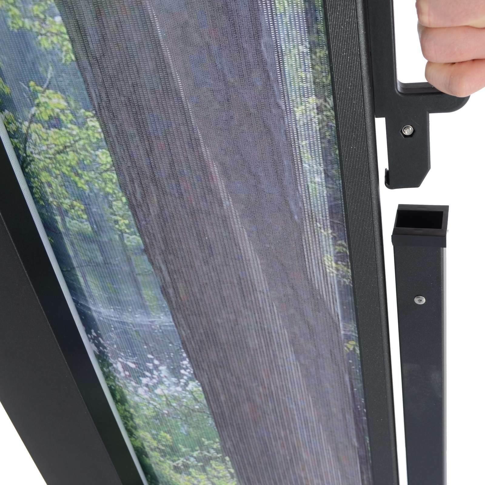 Seitenmarkise Sichtschutz Windschutz Wald Baume Motiv Ausziehbar