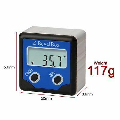 Electronic Digital Inclinometer Bevel Box Gauge Angle Protractor ±180°(0-360°) 5