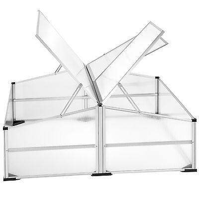 Invernadero doble de jardín aluminio jardinera de protección cultivo 102x102cm n