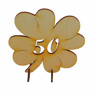 Geschenk Goldenen Hochzeit Jahrestag 50 Holz Glücksklee