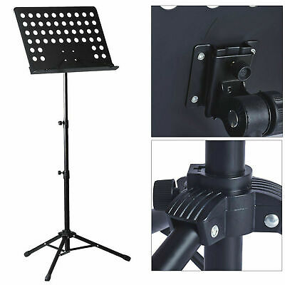 Heavy Duty Foldable Music Stand Holder Base Tripod Orchestral Conductor Sheet 3