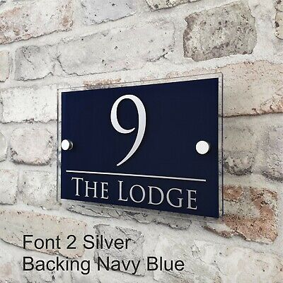 Contemporary House Sign Address Plaques Door Number Name Plates Personalised 9