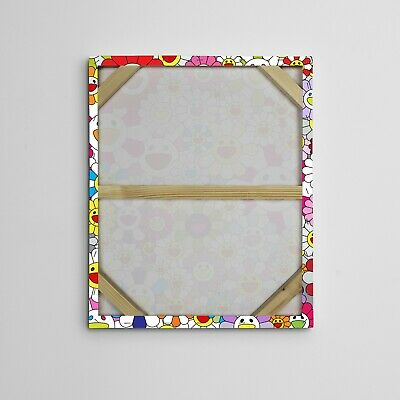 """16X20"""" Gallery Art Canvas: Takashi Murakami Flowers Smiley Faces Complexcon! 2"""