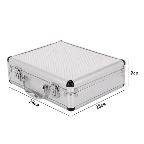 Aluminium Pistol Gun Case Storage Lockable Flight Case Foam Tool Box Secured UK 2