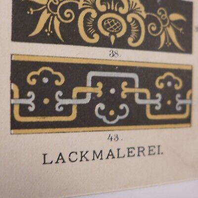 Japanesisch Lackmalerei  ,Chromolithografie 19. Jhdt. 3