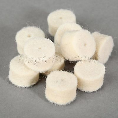36Pcs Grinder Rotary Attachment Grinding Wheel Disc Felt Wool Buffing Pads Tool 10