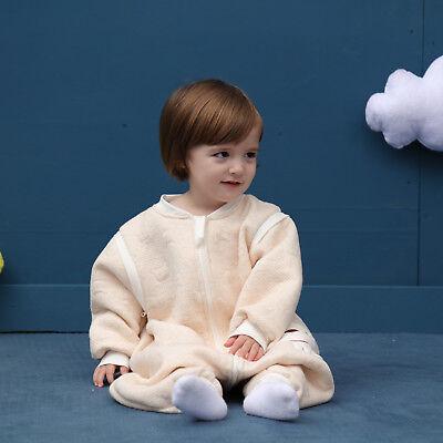 Baby Toddler Kids 100% Cotton Wearable Organic Blanket Sleeping Bag Winter Wrap 3