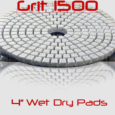 Diamond Polishing Pads Wet/Dry 4 Inch Set Kit Granite Concrete Marble Polishing