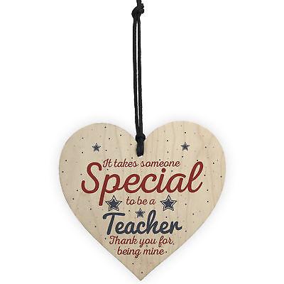 Handmade Hanging Heart Gift For Teacher Leaving Present Thank You Gifts Keepsake 5