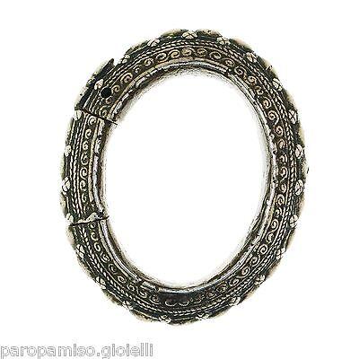 (0128) Rare Silver Bangle Batak Toba, Sumatra 19th century 4