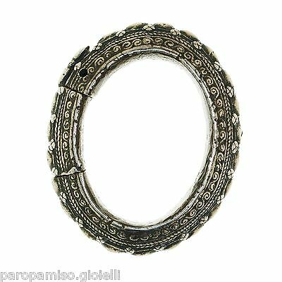 Rare Silver Bangle Batak Toba, Sumatra 19th century   (0128)