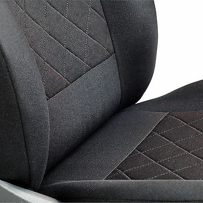 Farbe Premium Schwarz-rot Effekt 3D Doblo Sitzbez/üge 1 Set