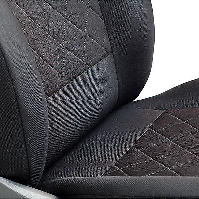 Schwarz-blau Effekt 3D Sitzbezüge für NISSAN ALMERA TINO Autositzbezug Komplett