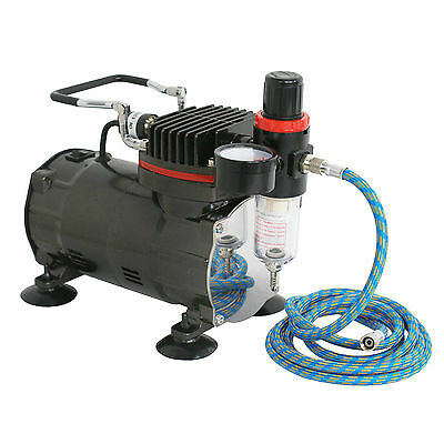 New Beginner Dual-Action AIRBRUSH AIR COMPRESSOR KIT SET Craft Cake Hobby Paint 2