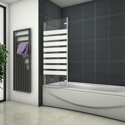80x140cm Duschwand Badewannenaufsatz Duschabtrennung Faltwand 8mm Nano Dusche