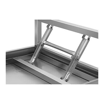 Folding Work Table Heavy Duty Stainless Steel Foldable Catering Table 4 Ft 120Kg 4