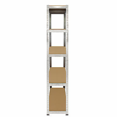 4 x Storage Shelving Garage Racking Heavy Duty 5 Tier Boltless Bays MDF Shelves 5