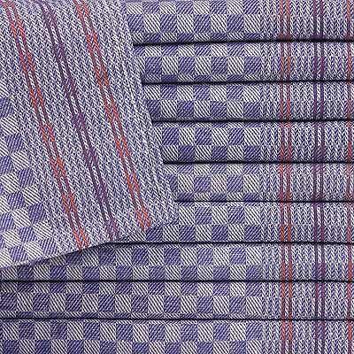10 Grubentücher Geschirrtücher Küchentücher Touchon 50x90 Blau Weiß Grubentuch