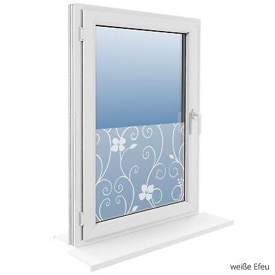 90 cm Fensterfolie Statische Sichtschutzfolie Milchglasfolie Glasdekorfolie 10