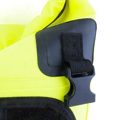 50L Motorcycle Luggage Duffel Holdall Waterproof Roll Shut Bag Flo Yellow 7
