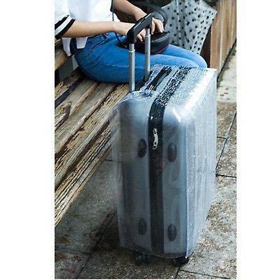 Plastic Travel Luggage Suitcase Cover Protector Scratch Dustproof Bag 20 24 28 7